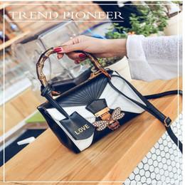 Жемчужный бамбук онлайн-2017 новый euramerican дизайнер моды сумки tote одно плечо сумки посыльного pearl honeybee бамбуковые ручки роскошные женщины сумки