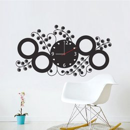 Wholesale Decorative Flowers For Kids Room - PVC Flower Vine Pattern Wall Sticker Clock Sticker Room Bedroom TV Sofa Background Decorative Wall Stickers