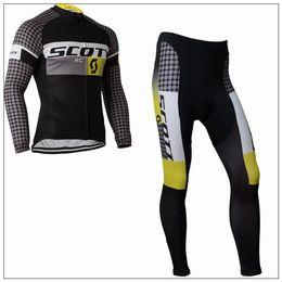Wholesale Scott Fleece - scott Autumn or winter fleece 2015 team Cycling Jerseys Bike Bicycle Long Sleeves Mountaion MTB cycling Jersey Clothing Shirts