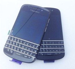 Wholesale Free Blackberry Accessories - Unlocked Original Blackberry Q10 Mobile Phone 8MP 2GB RAM 16GB ROM touch screen + Qwerty keyboard, Free DHL-EMS shipping