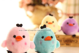 stuff toy chicken Promo Codes - Wholesale-CUTE Lovely 6Colors - Little 6CM Chicken Plush , Gift Stuffed Toy - String Chain Pendant Toy , Bouquet Plush Decor Toys