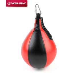 Wholesale Pears Box - Winmax Boxing Pear Shape PU Speed Ball Swivel Punch Bag Punching Exercise Speedball Speed bag Punch Fitness Training Ball