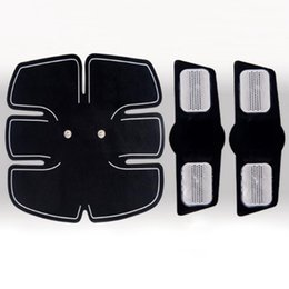 Wholesale Muscle Therapy Machines - Muscle Stimulator EMS Body Slimming Machine Abdominal Muscle Exercis Training Device forReplacement Gel Hydrogel Stickers Patch