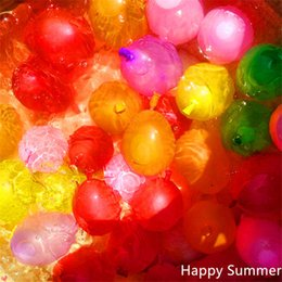 Wholesale Magic Pearls - Summer Water Balloons Magic Balloons Strong Rubber Ring With Tool Water Balloon 111pcs Balloons +111pcs Rubber Bands And Straws