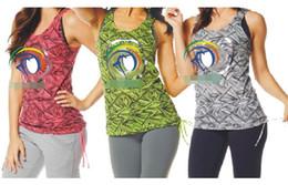 Wholesale Yoga Tank Xl - S M L XL woman vest Beamin Bubble Tank yoga tops dance tops pink green grey