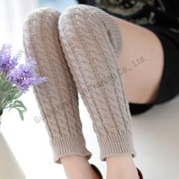 Wholesale Calentadores Crochet - Wholesale- Hot women boot cuffs socks crochet boot cuffs leg warmers knee high wool leg warmers for women calentadores piernas mujer largos