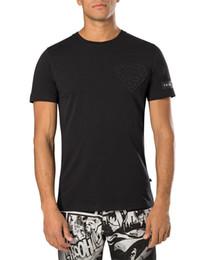 Wholesale Black Superman T Shirt - New Style 2017 Summer Men's Round Neck Short Sleeve Sweatshirt T-shirts Cotton Diamond Superman Print Tee Shirts 18256