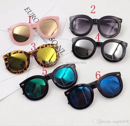 Wholesale Glasses Frames For Kids - 6 Styles Fashion children personality Sunglasses Summer Retro glasses Decorative Beach Sunshade products for kids Anti-UV glasses C1914