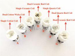 Wholesale Globe Coil - In Stock!! Quartz atomizer dual wax coil ceramic Donut rebuildable core for wax Glass globe vaporizer pen herbal vapor replacement e cigs