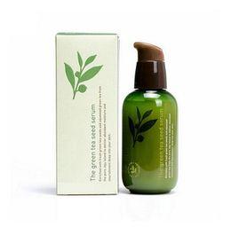 Wholesale Green Bottle Lotion - INNISFREE Korea brand Green Bottle CREAM THE Green Tea Seed Serum Moisturizing Face Care Lotion 80ML