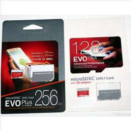 Wholesale Dhl Retail Package - 2017 Hot Selling EVO plus 128GB 256GB 64GB Micro SD Card Class 10 Card T Memory With Retail Package Free DHL shipping