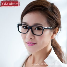 Wholesale Optic Frames - Wholesale- Chashma Acetate Prescription Glasses Frame Women Large Frame Black Optics Eyewear