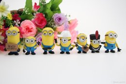 Wholesale Minions Kevin - 171217 New Arrival 7pcs Hot Selling Despicable Me Minions 3-6cm Kevin Bob Hot Flim Figure PVC Action Figure Free Shipping