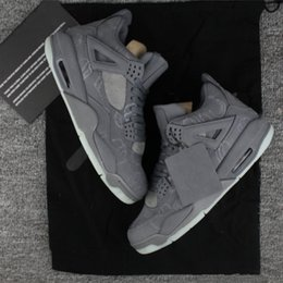 Wholesale Golf Cool - KAWS x Air Retro 4 retro 4s Cool Grey for mens Basketball Shoes ,AAA+Quality Kaws Glow sports shoes sneakers free shipping eur 41-47