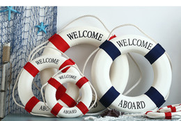 Wholesale Wholesale Supply Showcase - Mediterranean Foam Party Decoration Nautical Decor Lifebuoy Life Ring Wall Hanging Showcase room special decor 20pcs wholesale