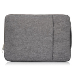 Wholesale 11 Sleeve Bag - Jean Denim Fabric Carrying Bag Protective Case Sleeve Handbag for Macbook Air Pro Retina 11 13 15 Inch Laptop PC Universal Zipper Bags