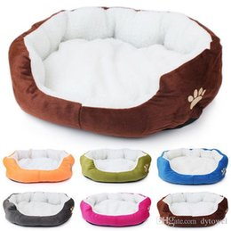 Wholesale Small Soft Dog House - 2017NEW Super Soft Small Dog Cat Bed Pet House Mat Camas De Perros Cheap Dog Kennel Indoor Cama Perro 6 Colors Free Shipping