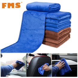 Wholesale cleaning household products - Wholesale- 1pc Ultra-fiber Car Wash Towel Cloth Suede Thick Absorbent Duster Microfiber Cars Cleaning Products For Automotives Household