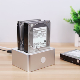 Wholesale Dual Sata Hdd Docking Station - wholesale USB3.0 to SATA 2.5' 3.5' Dual Bay HDD Docking Station With Clone Function hard disk enclosure support up to 12Tb hdd