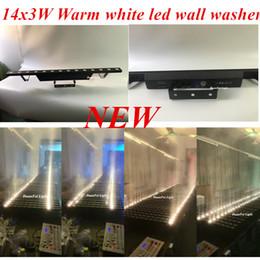 Wholesale Led 3watt - Wholesale- DunFly DuanFei Light 6pieces lot pro dj light 14 pcs led 3watt led wall washer light dmx512 warm white color