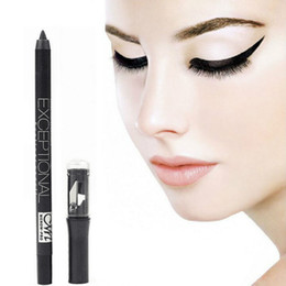 Wholesale Eyebrow Make - Black Eyeliner Pencil Waterproof Eyebrow Pen Make Up Beauty Comestics Eye Liner Eyes Makeup With pencil Sharpener