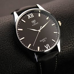 Wholesale Hottest New Business - Classic 2017 New Fashion Simple Style Top Famous Luxury brand quartz watch Men Women casual Leather watches hot Clock Reloj mujeres