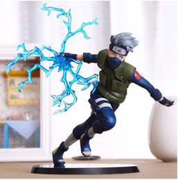 Wholesale Naruto Dolls Toys - 16 cm Naruto Kakashi Sasuke figurine anime dolls Drawing toys from PVC Drawing Model table decoration Decoration Accessories