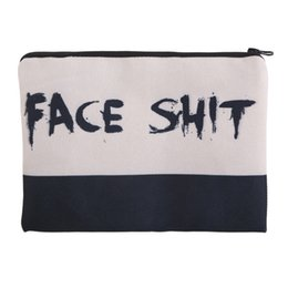Wholesale Shit For Women - 2017 Fashion Square Makeup bag Lady Cosmetic case Face shit Pencil Bags Handbags zipper pouch canvas Small organizer toiletry For Women