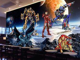 2019 homem de ferro do quarto Grande afresco não-tecido papel de parede club bar KTV sala de estar quarto papel de parede personalizado Avenger Union Iron Man desconto homem de ferro do quarto