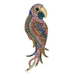 Wholesale Asian Scarfs - Fashion Bird brooches for women Wedding Broach large Insect pins and brooches ladies Brooches Scarf Clothes Hijab Pins Up