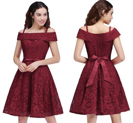 Wholesale Cheap Girls Shirts Shorts - Hot Sales Cheap Junior Bridesmaid Dress Off Shoulder A Line Full Lace Party Dresses For Girls 2017 Cocktail Gowns CPS695
