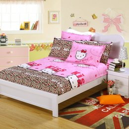 Wholesale Fitted Bedspreads Twin - Wholesale-Sheet & pillowcase cartoon fitted sheet with elastic bed sheet polyester cotton bedspread mattress cover sheet twin full queen