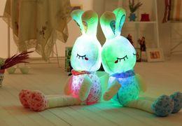 Wholesale Rabbit Lamps - 70cm Cartoon Plush Glowing Stuffed Plush Rabbit Toy Pillow Flashing LED Light Rabbit Doll Toys Baby Birthday Gift for Children
