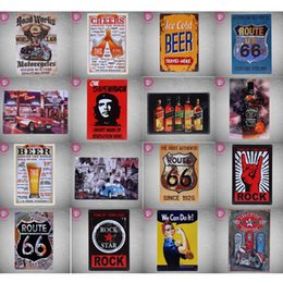 Wholesale Tin Plate Painting - 40 Styles Tin Sign Metal Plate Vintage Retro Home Decor Tin Signs Bar Pub Cafe Garage Decorative, Metal Sign Art Painting Plaque