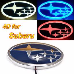 Wholesale Led Badges - Car Logo 4D Styling Decorative Light Super bright Car Rear Badge Emblem Logo with LED Light Lamp For Forester XV Legacy Impreza Outba