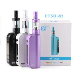 Wholesale Electronic Cigarettes Mods - ECT ET50 Fog-mini electronic cigarettes Kit 50W E cig box mod 2.5ml mini vot airflow control 2200mah atomizer e cigarette et50 Vape