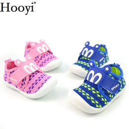 Wholesale sound shoes - Hooyi Baby Boy Casual Sport Shoes Fashion Blue Pink Girls Sneakers Moccasin Breathable Children Shoe Toddler Noise Sound Shoe