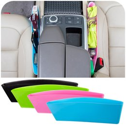 Wholesale Shipping Box Organizer - Wholesale-Auto Car Seat Gap Pocket Catcher Organizer Leak-Proof Storage Box New organizador de asiento trasero hot selling free shipping