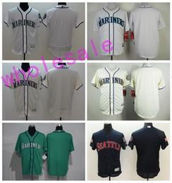 Wholesale Wholesale Name Jerseys - Cheap Seattle Mariners Blank Jerseys Flexbase Baseball Personalized Jersey Cool Base Stitched Any Name and Number White Grey Black Red