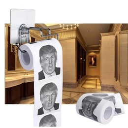 Wholesale Wholesale Paper Napkins - 2017 Funny Toilet Paper With Donald Trump Photo Printing 3 layer Toilet Paper with USA President Drawing Gag Gifts XL-G183