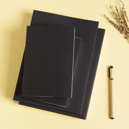 Wholesale Wholesale Book Binding Supplies - Wholesale- 16K 32K Vintage Kraft Cover White Blank Pages Sketchbook Diary Drawing Book Notebook Graffiti Book School Office Supplies