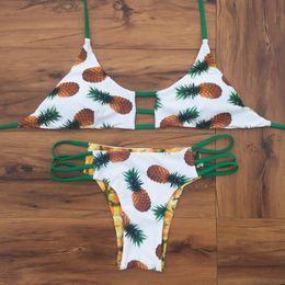 Новый Леди ананас бюстгальтер бандаж бикини кусок купальник купальники купальный костюм пляжная одежда высокое качество размер S/M / L / XL cheap pineapple size от Поставщики размер ананаса
