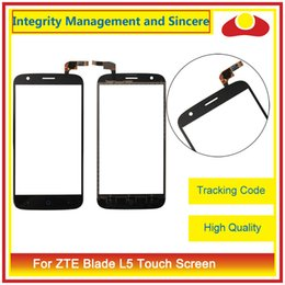 """Wholesale Screen L5 - High Quality 5.0"""" For ZTE Blade L5 And L5 Plus Touch Screen Digitizer Outer Glass Lens Panel Black White"""