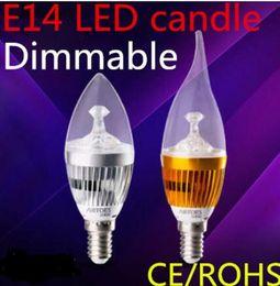 Wholesale Led Candelabra E12 - FREE ship LED Candelabra E12 E14 E27 Bulb 6w 10w Dimmable 110v 220v LED Candle Bulb High Lumen LED Lights Lamp Warm Cool White