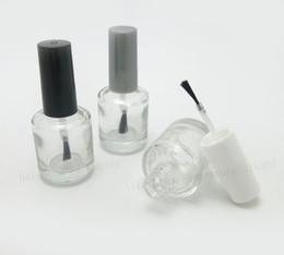 Wholesale Empty Enamel - Wholesale- 300 x 15ml Empty Nail polish Bottle Transparent nail enamel bottle,1 2 glass nail polish Bottle With Brush