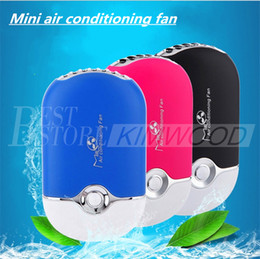 Wholesale Mini Hand Held Fan - Mini portable hand held desk air conditioner humidification cooler cooling fan Wholesale and retail DHL Free shipping