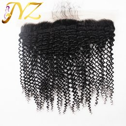 Wholesale Kinky Hair Closures - Peruvian Lace Frontal Closure Kinky Curly 13x4 Best Custom Made Lace Frontals For Sale Cheap Brazilian Frontal Lace Closure Malaysian hair