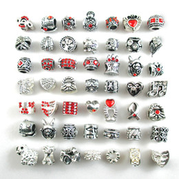 Wholesale Red Spike Bracelets - Free Shipping silver plated DIY pandora style Beads Charms fit Europe Bracelets Fashion accessories for diy jewelry