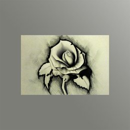 Wholesale Modern Canvas Art Roses Paintings - Modern Wall Decorative Painting Sketch Rose Canvas Art Printing Picture on Canvas from Digital Painting for Home Decoration