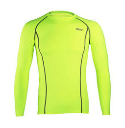 Wholesale Outdoor Thermal Underwear - Mens outdoor sports thermal underwear Running Ride Fitness Soccer Basketball Sport Compression Tight Quick-drying Corsets Long Sleeves